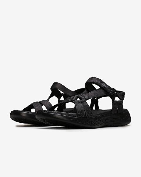 On-The-Go 600 - Brilliancy Kadın Siyah Sandalet 15316 BBK-2