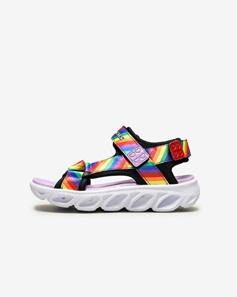 Hypno-Splash-Rainbow Lights Büyük Kız Çocuk Siyah Sandalet