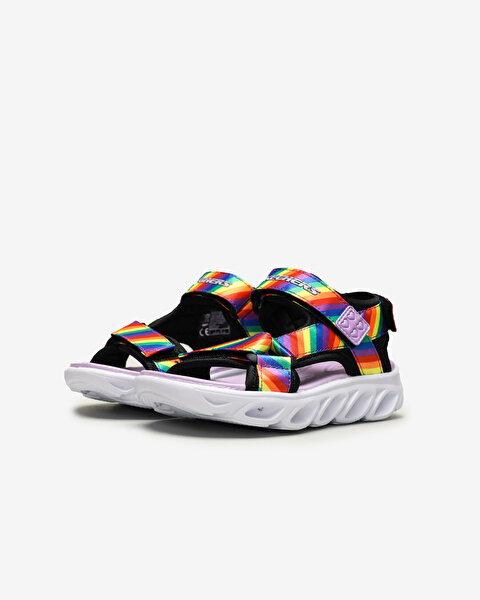 Hypno-Splash-Rainbow Lights Büyük Kız Çocuk Siyah Sandalet-2