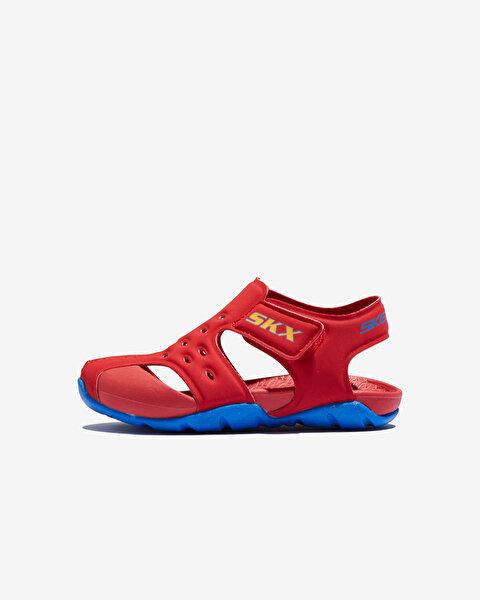 Side Wave Küçük Erkek Çocuk Kırmızı Sandalet 92330N RDBL