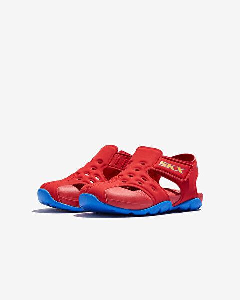 Side Wave Küçük Erkek Çocuk Kırmızı Sandalet 92330N RDBL-2
