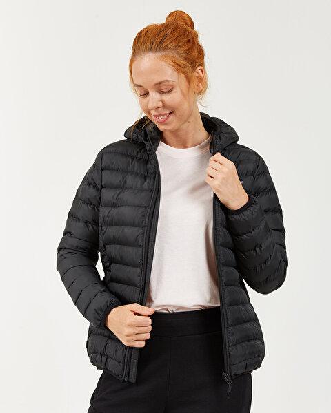 Outerwear W Padded St Hd Lightweight Jacket Kadın Siyah Mont-1