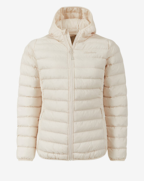 Outerwear W Padded St Hd Lightweight Jacket Kadın Bej Mont
