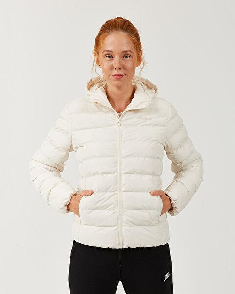Outerwear W Padded Lightweight Hooded Jacket Kadın Bej Mont