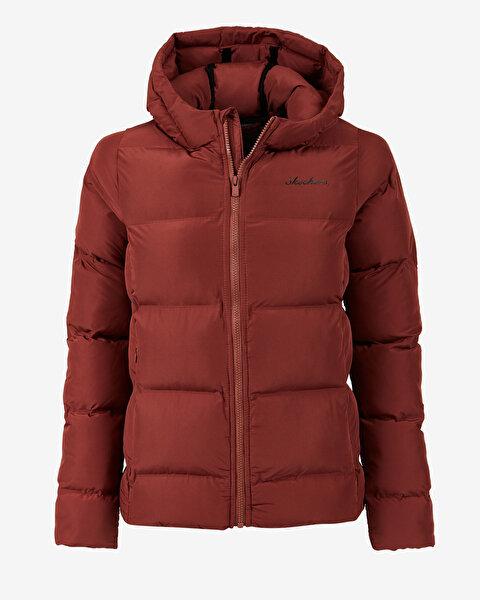 Outerwear W Padded Seamless Hooded Jack Kadın Kahverengi Mont