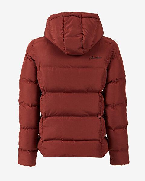Outerwear W Padded Seamless Hooded Jack Kadın Kahverengi Mont-1