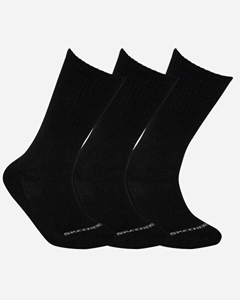 U Skx Padded Crew Cut Socks 3 Pack Unisex Siyah Çorap