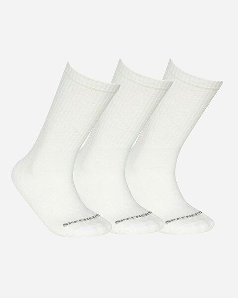U Skx Padded Crew Cut Socks 3 Pack Unisex Beyaz Çorap