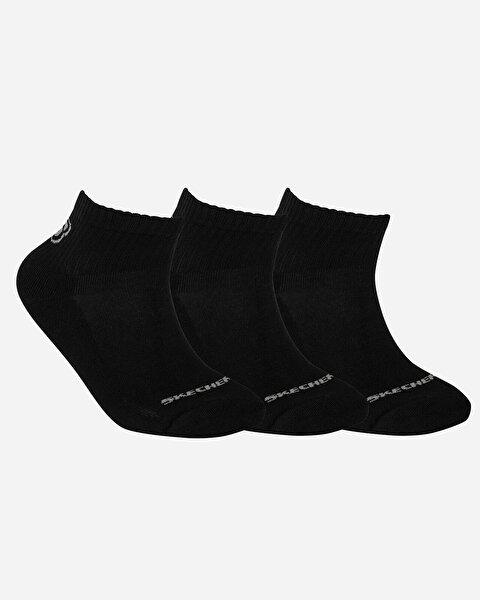 U Skx Padded Mid Cut Socks 3 Pack Unisex Siyah Çorap