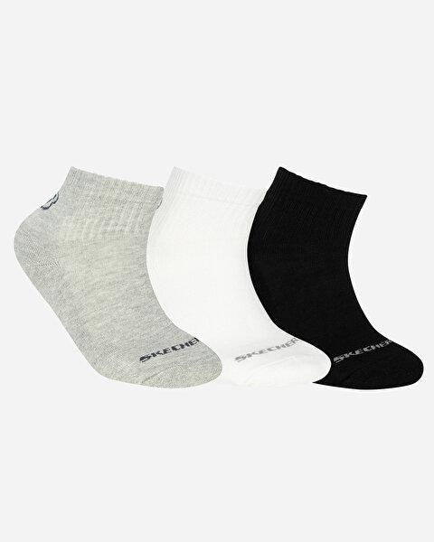 U Skx Padded Mid Cut Socks 3 Pack Unisex Multi Çorap
