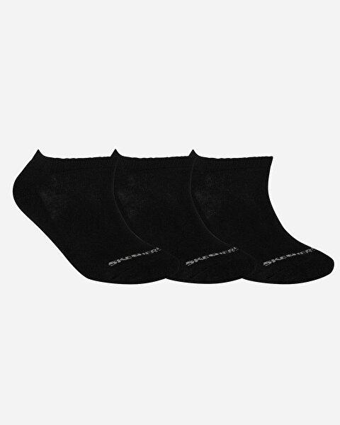 U Skx Padded Low Cut Socks 3 Pack Unisex Siyah Çorap
