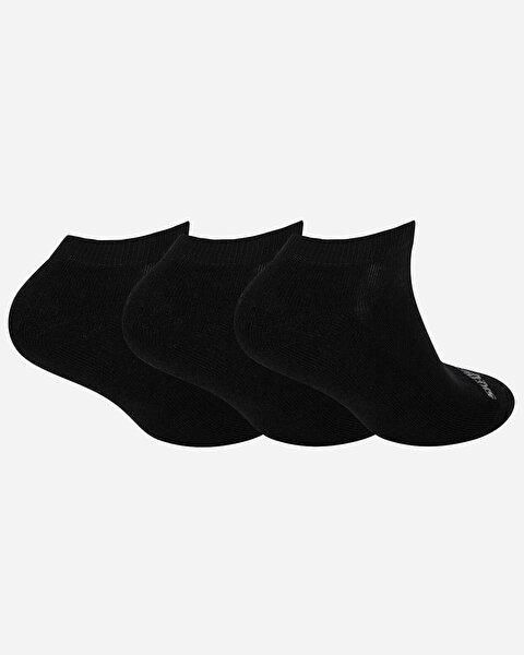 U Skx Padded Low Cut Socks 3 Pack Unisex Siyah Çorap-1
