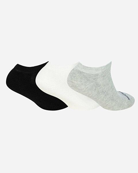 U Skx Padded Low Cut Socks 3 Pack Unisex Multi Çorap-1