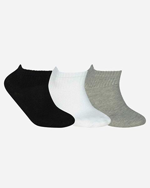 U Skx Nopad Mid Cut Socks 3 Pack Unisex Multi Çorap