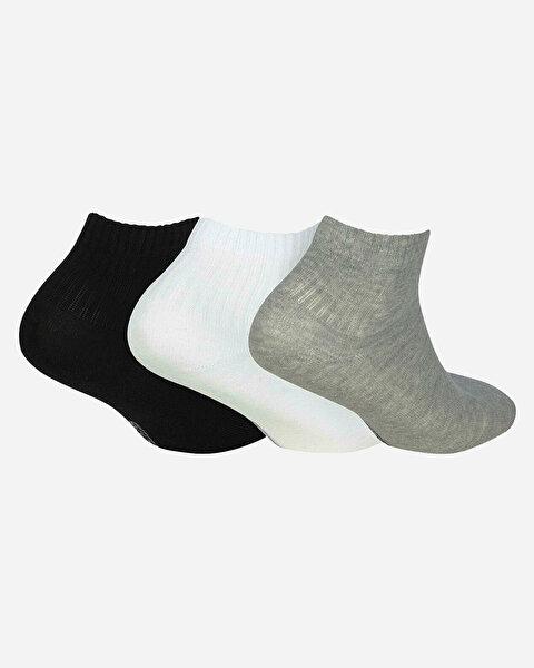 U Skx Nopad Mid Cut Socks 3 Pack Unisex Multi Çorap-1