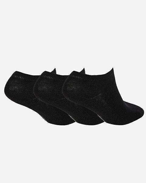 U Skx Nopad Low Cut Socks 3 Pack Unisex Siyah Çorap-1