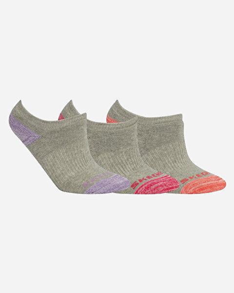 Skx G Terry Sneaker 3 Pack Çocuk Gri Çorap S192259-035