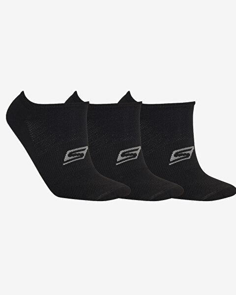 Skx U No Show Performance 3 Pack Sneaker Unisex Siyah Çorap