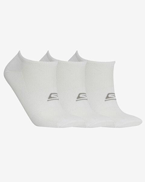 Skx U No Show Performance 3 Pack Sneaker Unisex Beyaz Çorap