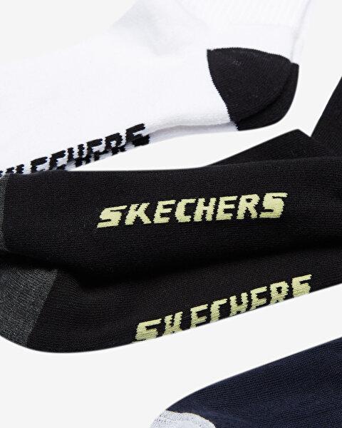 M S Logo Crew Cut Socks 3 Pack Erkek Multi Çorap S201318-900-1