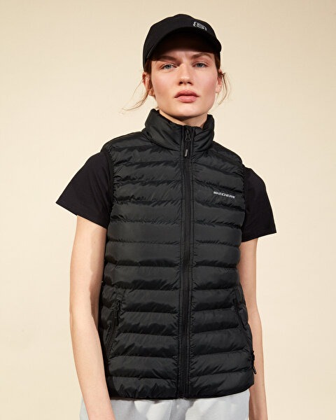 Outerwear W Basic Lightweight Vest Kadın Siyah Yelek-1