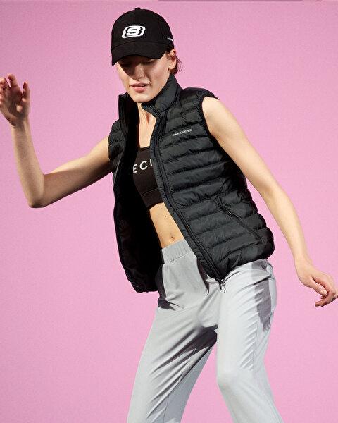 Outerwear W Basic Lightweight Vest Kadın Siyah Yelek