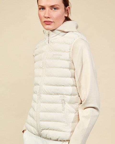 Outerwear W Basic Lightweight Vest Kadın Bej Yelek