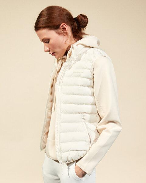 Outerwear W Basic Lightweight Vest Kadın Bej Yelek-1